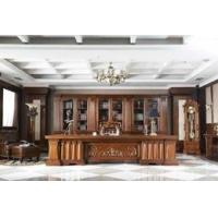 凯撒实木办公班台,欧式办公家具,大班台,老板办公桌
