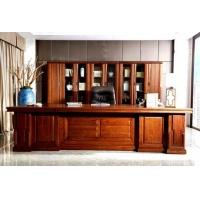 佳诚中式办公家具,中堂系列全实木办公班台,大班桌,老板办公桌