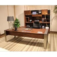 现代简约办公家具,自由畅想系列实木班台,纯实木大班桌