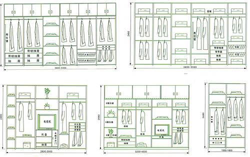 拐角衣柜平面圖展示圖片