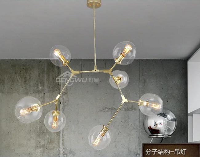 铁艺+麻绳灯