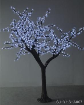 led仿真白色樱花树