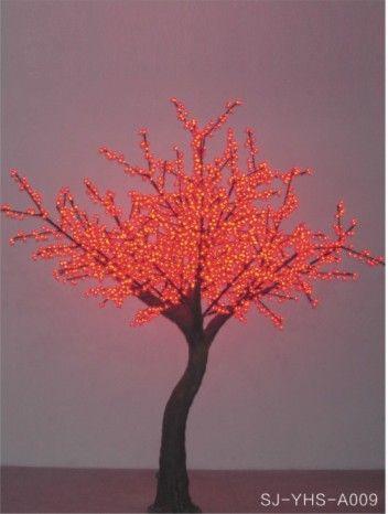 led仿真红色樱花树