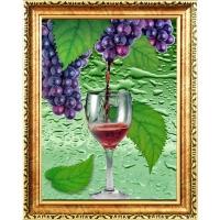 供应广州航标装饰画 艺术装饰画 3D工艺画(美酒)