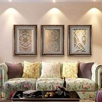 纯手工雕刻天然蛭石板室内装饰壁画别墅客厅挂画卧室墙面挂画有框