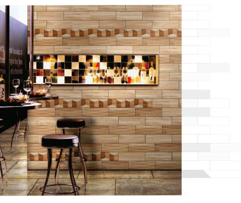 欧式仿实木纹瓷砖墙砖 新款上市糖果釉面砖 简约时尚