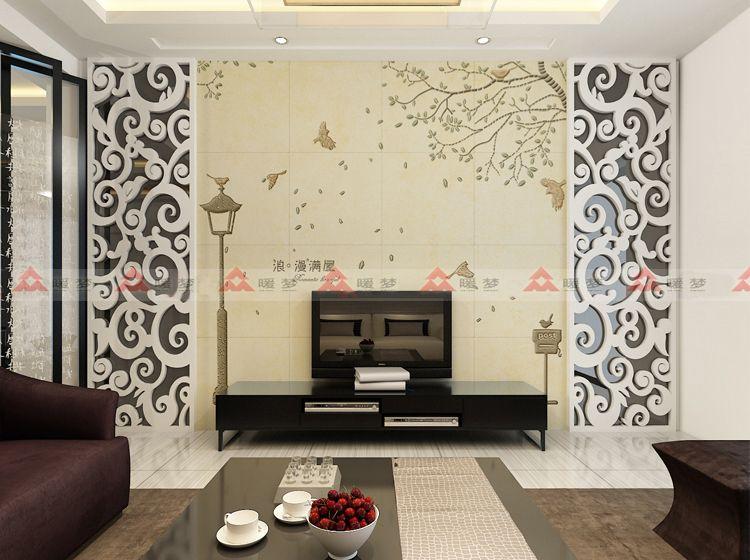 瓷砖背景墙 瓷砖雕刻 艺术瓷砖