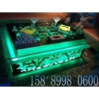 广州KTV茶几 雕花发光茶几B-007 玻璃吧桌
