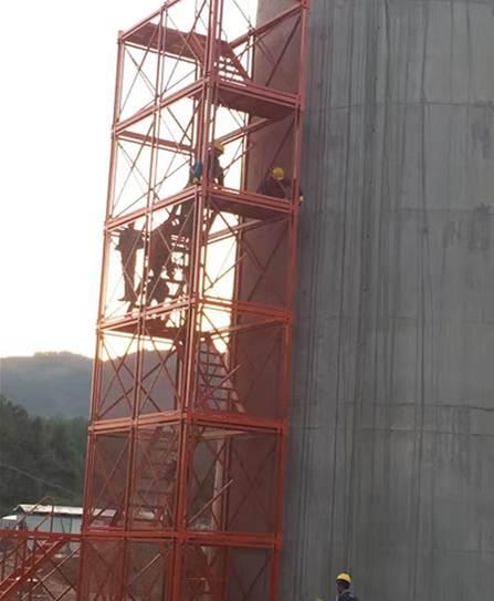 泽晟箱式安全梯笼 组合式安全梯笼