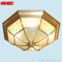 欧式全铜吸顶灯大厅客厅铜灯简约卧室灯具圆形餐厅过道阳台灯