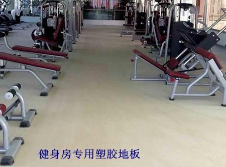 天津健身房塑胶地板 PVC地板