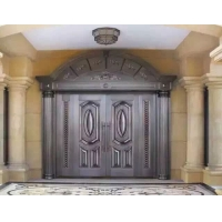 手工定制各式工艺铜门