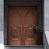 金七福銅門定制各種入戶銅門子母門