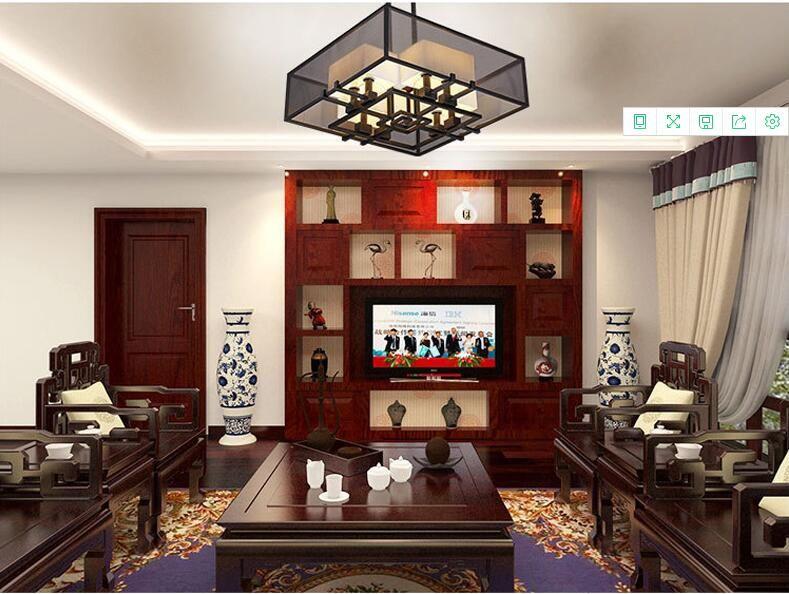 新中式客厅吊灯 新中式别墅大厅吊灯 新中式吊灯
