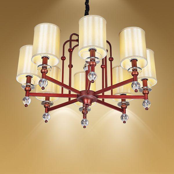 现代中式别墅大厅吊灯 卧室中式吊灯【灯迷汇照明】