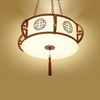 新中式卧室吊灯 中式酒店客房吊灯 玄关中式吊灯【灯迷汇】