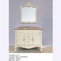 添丽卫浴 新品浴室柜 仿古陶瓷+象牙白