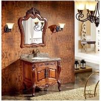 添丽卫浴 新款浴室柜 陶瓷台面 咖啡
