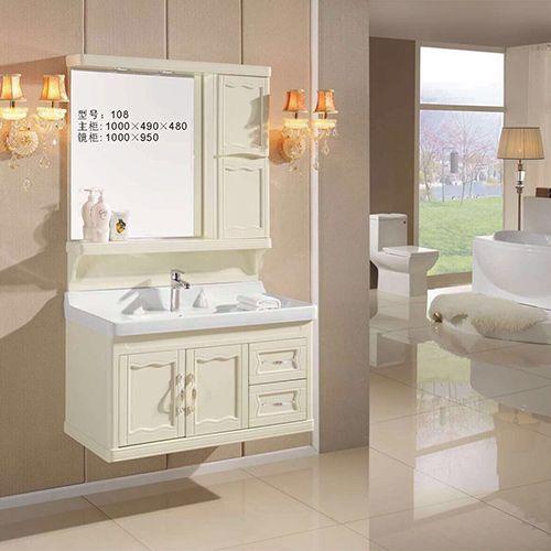 添丽卫浴 新款浴室柜 陶瓷台面