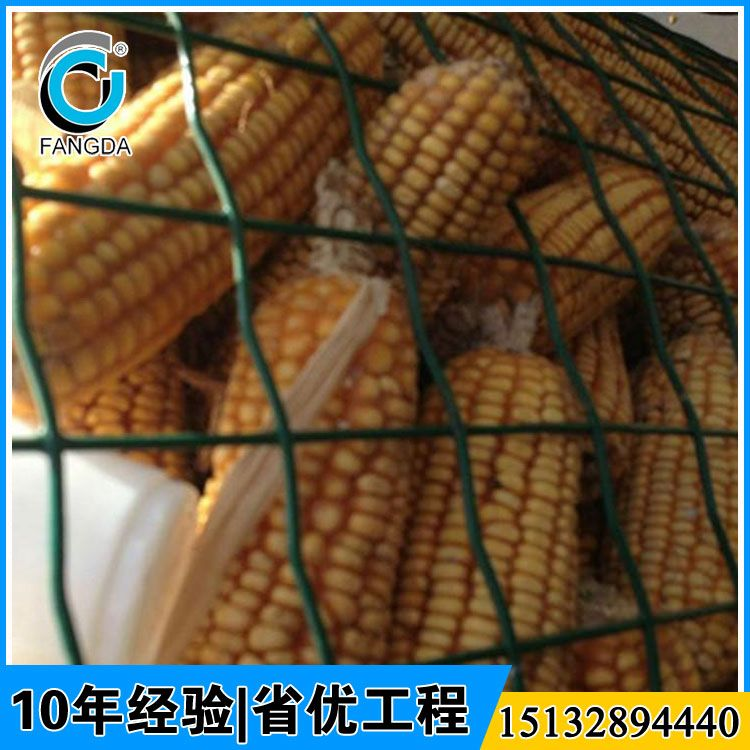十年老厂供应绿色养殖铁丝网 方孔浸塑铁丝网 圈玉米网