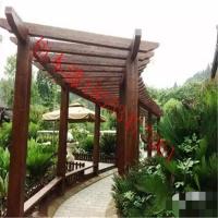 园林工程水泥仿木漆花箱廊架仿木涂料