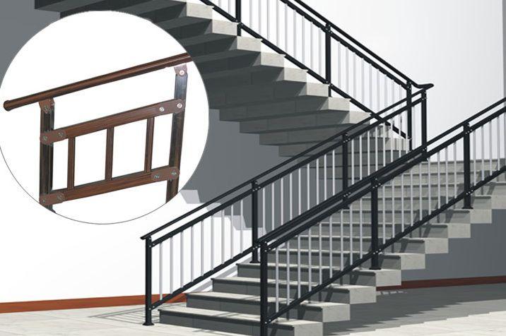 宏发鑫锌钢楼梯扶手 户外楼梯扶手 家用楼梯