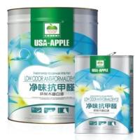 美国亚太苹果漆火热招商加盟  净味抗甲醛环保木器白漆