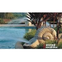 艺术砂岩蜗牛喷泉,园林景观喷泉装饰