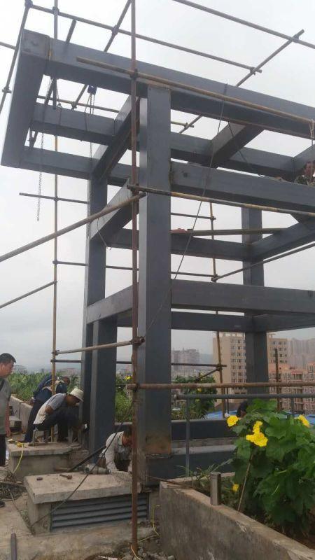 显高钢结构 雨棚 阁楼 车库 楼梯