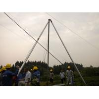 光明12米线杆立杆用具 三角架立杆机 铝合金立杆机