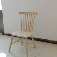 白茬餐椅实木北欧现代简约