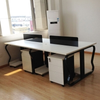 开放式职员办工桌,钢架职员桌,钢制办公家具,开放式职员办工桌
