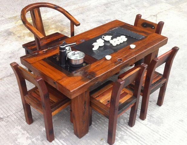 老船木茶桌茶台茶几实木家具桌功夫泡茶茶桌