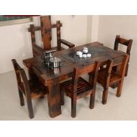 老船木沉船木茶台茶桌椅组合实木功夫仿古茶台