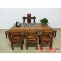 老船木茶桌椅组合简约客厅家具茶几茶台沉船木茶桌