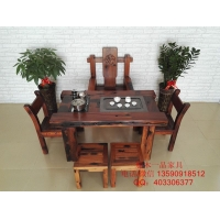 老船木茶桌茶台客厅小户型泡茶几功夫茶桌椅组合