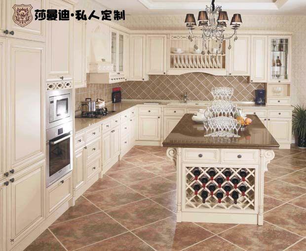 整体橱柜 北京欧式整体厨房 白蜡木实木橱柜