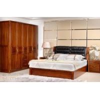 缅甸柚木家具 柚木双人床全实木衣柜组合 绿林木语