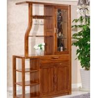 缅甸柚木家具 柚木酒柜全实木装饰柜储物柜