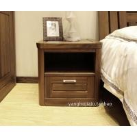 绿林木语 黑胡桃木床头柜全实木床边柜收纳柜