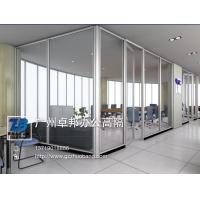 卓邦供应办公室玻璃高隔断钢化玻璃隔断形象墙