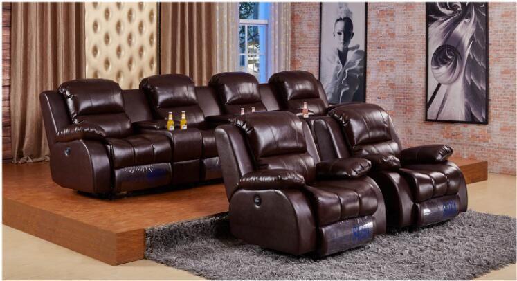智能影音室触摩伸展智能沙发,家庭影院智能伸展沙发供应