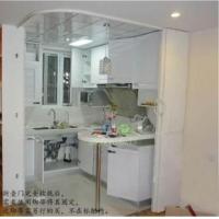 日本立川折叠门弯曲轨 室内折叠门隔断 储藏室折叠门