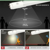 陕西西安LED节能雷达感应灯管 地下车库LED感应灯管