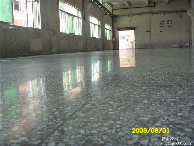 白色水磨石地面-产品描述高清图片