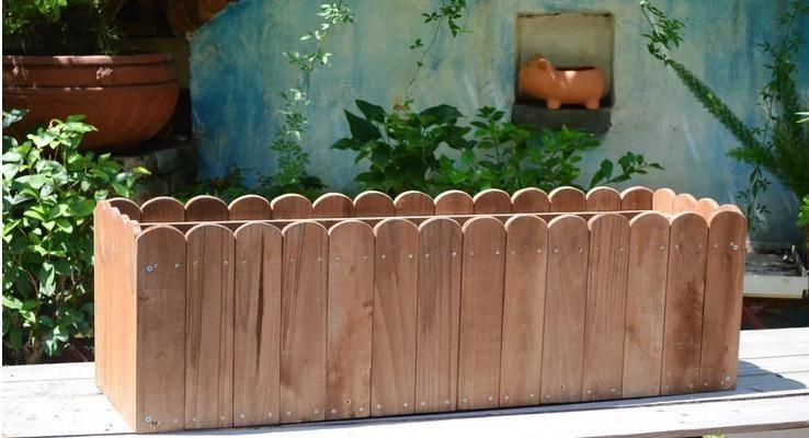 防腐木花盆碳化木花盆炭化木花箱实木
