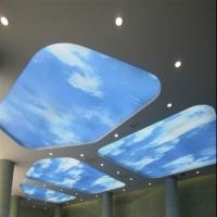 A级软膜天花吊顶灯-上海A级软膜天花-软膜天花喇叭柱安装工程