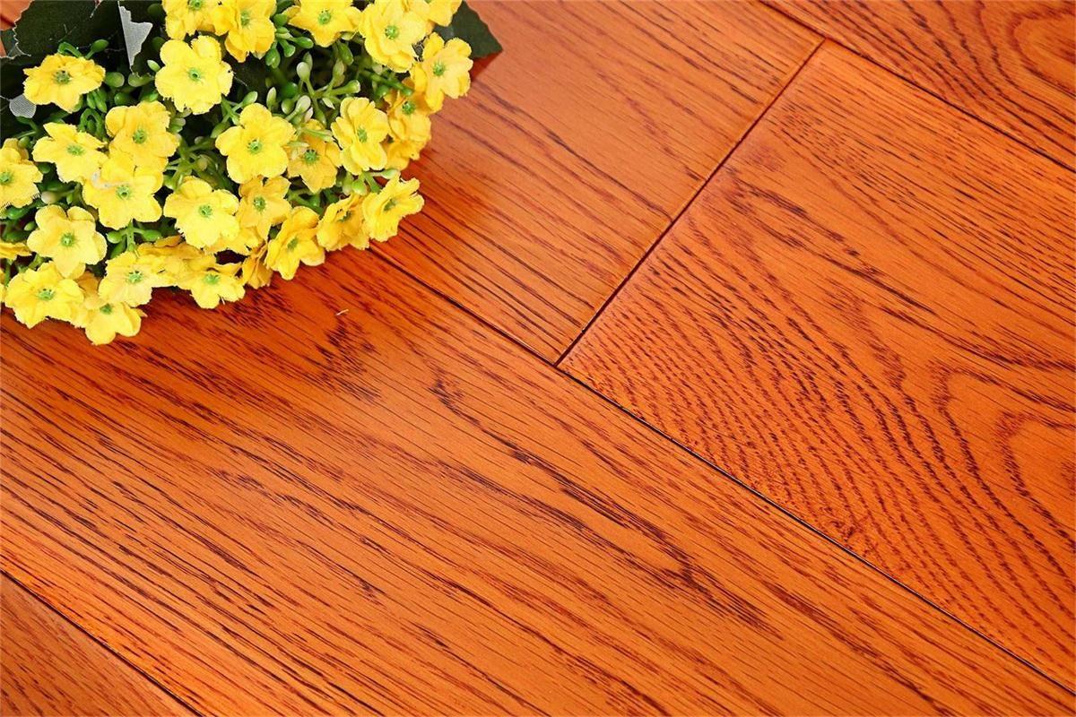 书香世佳地板-实木地板-美国红橡 金黄色
