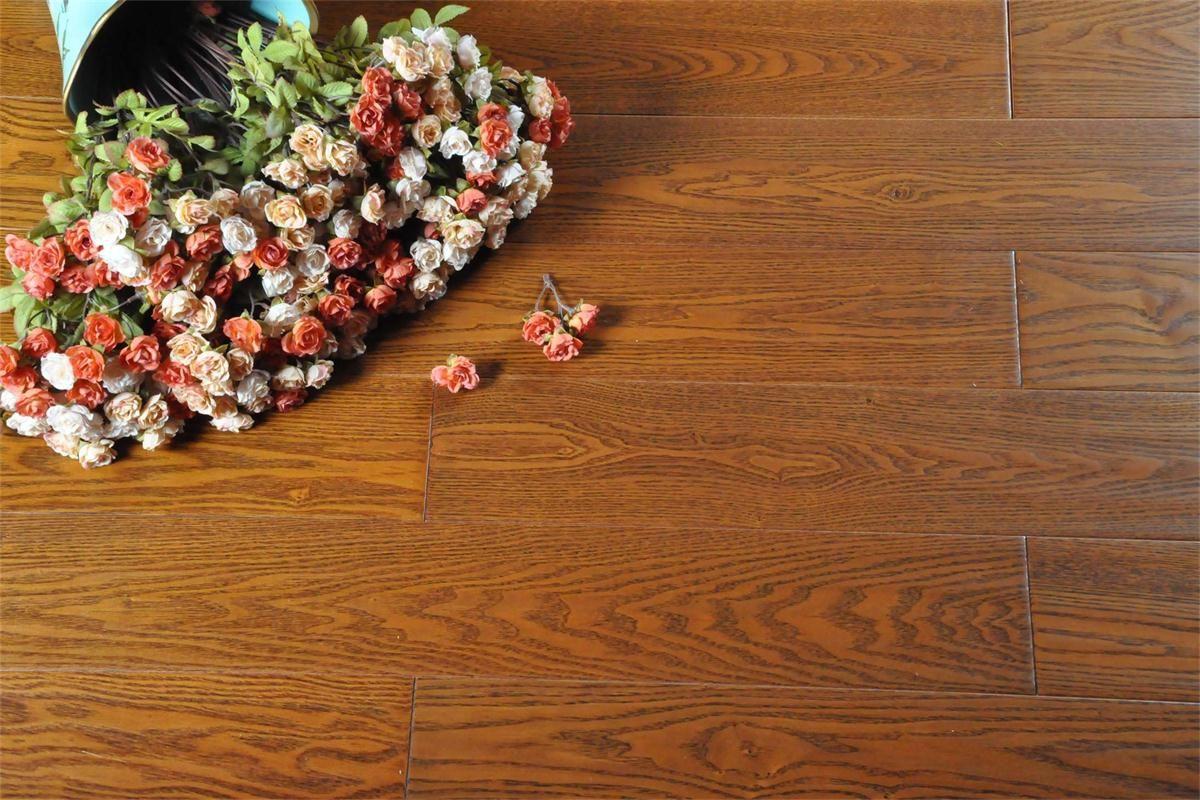书香世佳地板-实木地板-美国红橡 柚木色