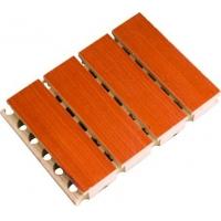 广西北海学校会议室木质吸音板 28/4槽木吸音板饰面板